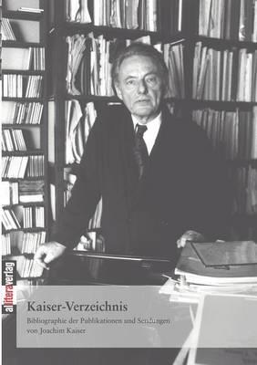 Kaiser-Verzeichnis (Paperback)