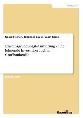 Existenzgrundungsfinanzierung - Eine Lohnende Investition Auch in Grobanken?!? (Paperback)