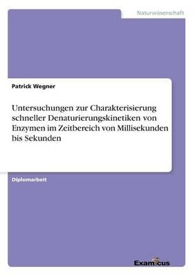Untersuchungen Zur Charakterisierung Schneller Denaturierungskinetiken Von Enzymen Im Zeitbereich Von Millisekunden Bis Sekunden (Paperback)