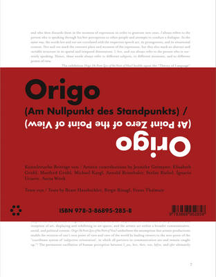Origo (at Point Zero of the Point of View) - Birgit Rinagl and Franz Thalmair (Paperback)