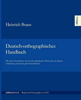 Deutsch-Orthographisches Handbuch (Paperback)