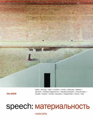 Speech: Bk. 4: Materiality (Paperback)