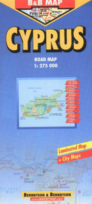 Cyprus Road Map (Sheet map)