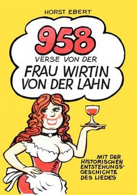 958 Verse Von Der Frau Wirtin an Der Lahn (Paperback)