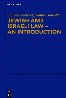 Jewish and Israeli Law - an Introduction (Hardback)