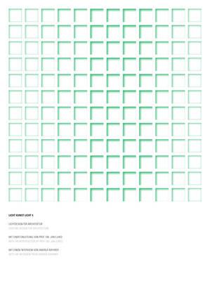 Licht Kunst Licht: Volume 4: Lighting Design for Architecture (Paperback)