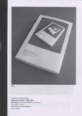 Johannes Wohnseifer: Werkverzeichnis 1992-2007 (Paperback)