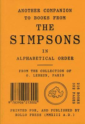 Another Companion to Books from the Simpsons (Paperback)
