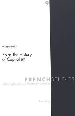 Zola: The History of Capitalism - French Studies of the Eighteenth and Nineteenth Centuries 9 (Paperback)