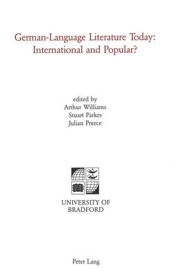 German-Language Literature Today: International and Popular? (Paperback)