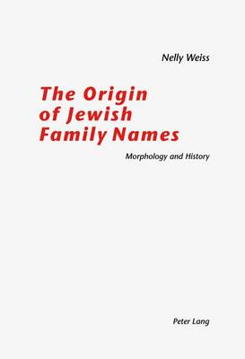 The Origin of Jewish Family Names (Paperback)