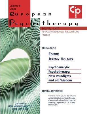 European Psychotherapy Vol. 8 (Paperback)