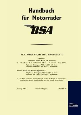 Handbuch Fur BSA-Motorrader (1956) (Paperback)