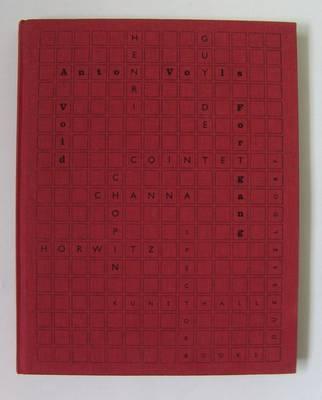Henri Chopin, Guy De Cointet, Channa Horwitz (Paperback)