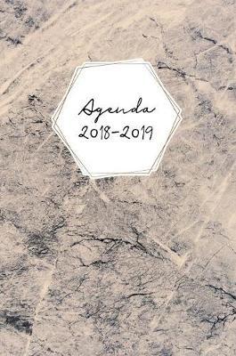Agenda 2018-2019: Agenda Scolaire de Juillet 2018   Ao t 2019, Couverture Rigide, Semainier Simple & Graphique, Motif Marble - Agenda Journalier 1 (Hardback)