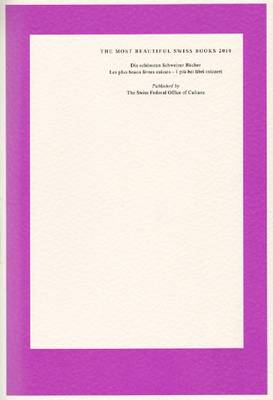 The Most Beautiful Swiss Books 2010 (Paperback)