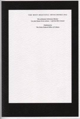 The Most Beautiful Swiss Books 2012 (Paperback)