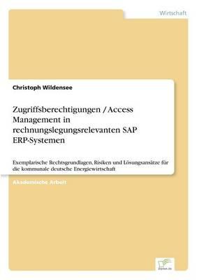 Zugriffsberechtigungen / Access Management in Rechnungslegungsrelevanten SAP Erp-Systemen (Paperback)