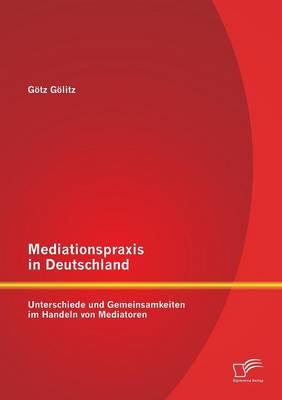 Mediationspraxis in Deutschland: Unterschiede Und Gemeinsamkeiten Im Handeln Von Mediatoren (Paperback)