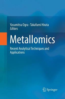 Metallomics: Recent Analytical Techniques and Applications (Paperback)