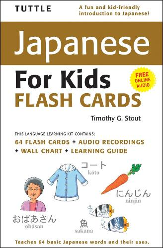 Tuttle Japanese for Kids Flash Cards Kit: [Includes 64 Flash Cards, Audio CD, Wall Chart & Learning Guide] - Tuttle Flash Cards