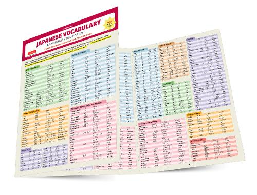 Japanese Vocabulary Language Study Card: Essential Words and Phrases for the JLPT and AP Exams (Includes Online Audio)