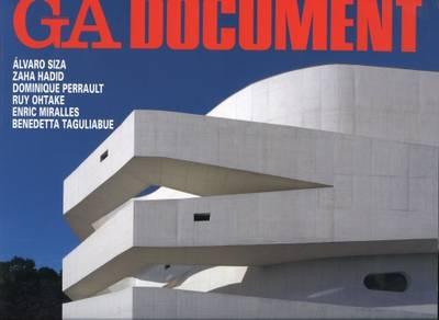 GA Document 104: Siza, Hadid, Perrault, Ohtake, Miralles, Taguliabue (Paperback)