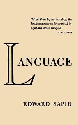 Language by Edward Sapir (Paperback)