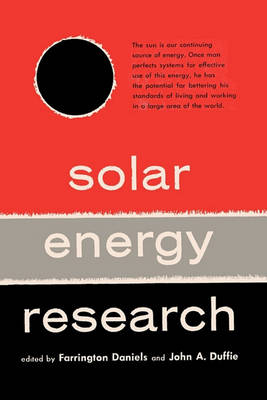Solar Energy Research (Paperback)
