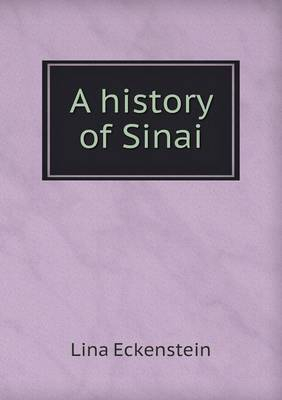 A History of Sinai (Paperback)