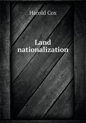 Land Nationalization (Paperback)