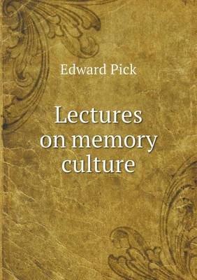Lectures on Memory Culture (Paperback)