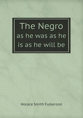 The Negro as He Was as He Is as He Will Be (Paperback)