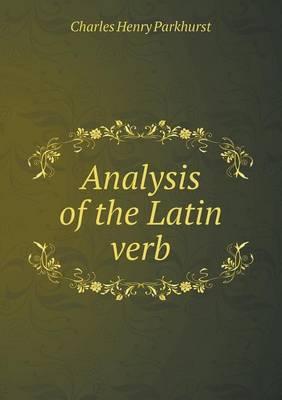 Analysis of the Latin Verb (Paperback)