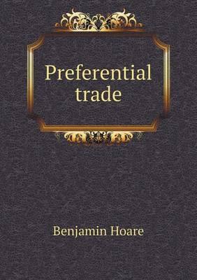 Preferential Trade (Paperback)