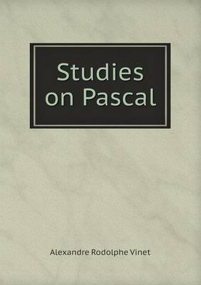 Studies on Pascal (Paperback)