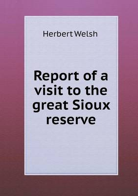Report of a Visit to the Great Sioux Reserve (Paperback)