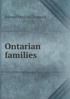 Ontarian Families (Paperback)