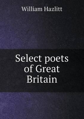 Select Poets of Great Britain (Paperback)