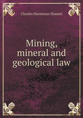 Mining, Mineral and Geological Law (Paperback)