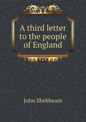 A Third Letter to the People of England (Paperback)
