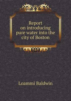 Report on Introducing Pure Water Into the City of Boston (Paperback)