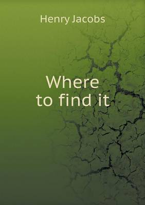 Where to Find It (Paperback)