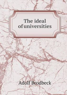 The Ideal of Universities (Paperback)
