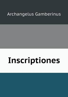 Inscriptiones (Paperback)