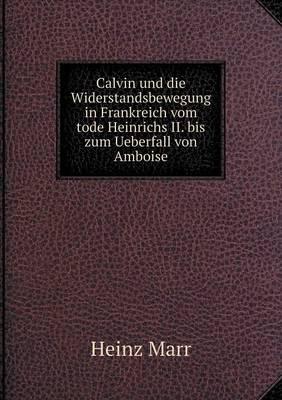 Calvin Und Die Widerstandsbewegung in Frankreich Vom Tode Heinrichs II. Bis Zum Ueberfall Von Amboise (Paperback)