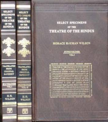 Select Specimens of the Theatre of the Hindus (Hardback)