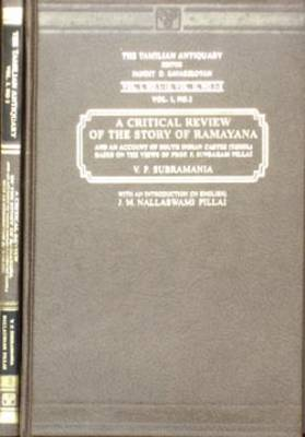 Critical Review of the Story of the Ramayana with an Introduction (Hardback)