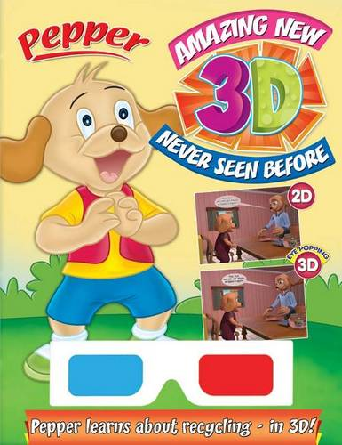 Pepper Learns about recycling in 3D (Paperback)