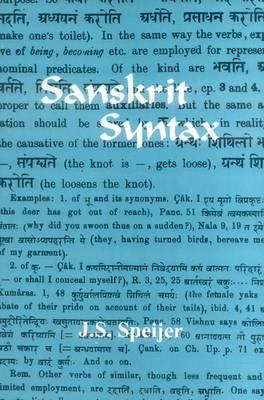 Sanskrit Syntax (Paperback)